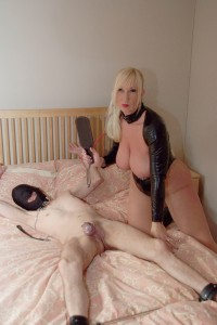 Mistress Melody humiliating her slave
